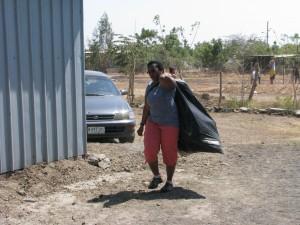 Rita hauling trash